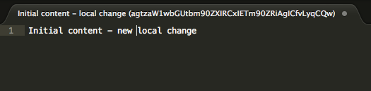Alt Local change