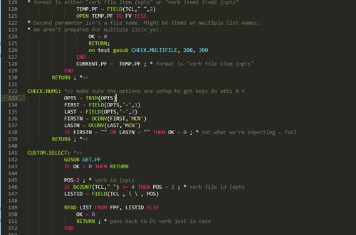 Sublime Text MVBasic Syntax Example (Monokai Theme)