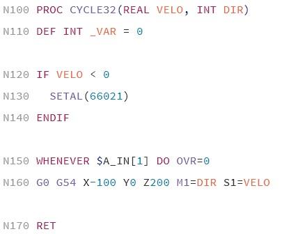 CNC SINUMERIK 840D language support - Packages - Package Control