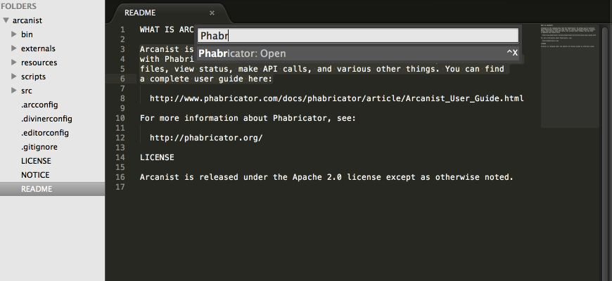 Open Phabricator via Sublime Text