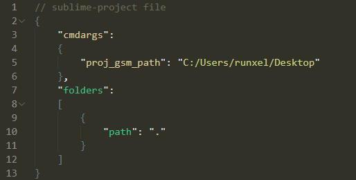 Project path setting