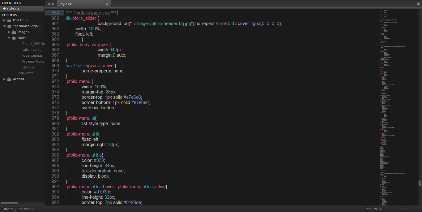 CSS Code Preview