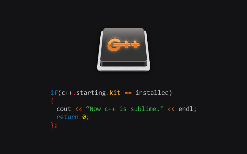C++ Starting Kit Teaser 1
