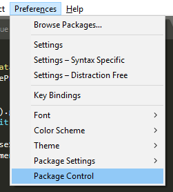 Open Package Control from the Preferences Menu