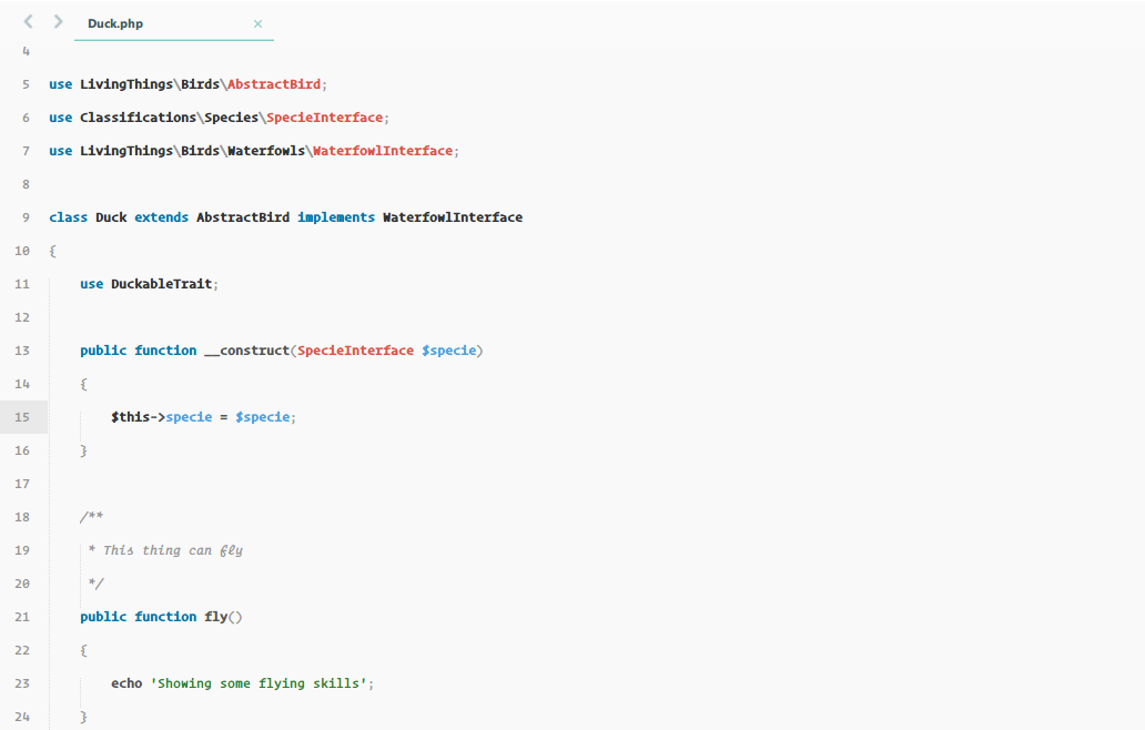 The laravel docs light