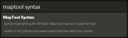 MapTool Syntax Package