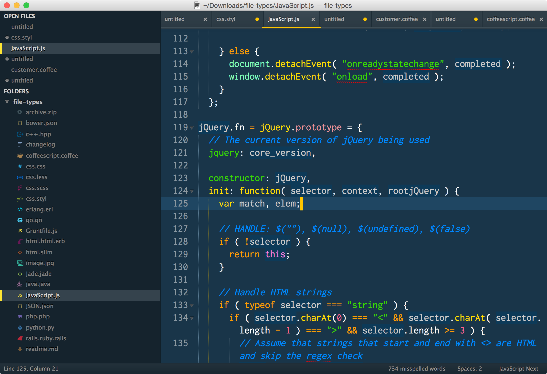 cobalt2 theme for sublime text3