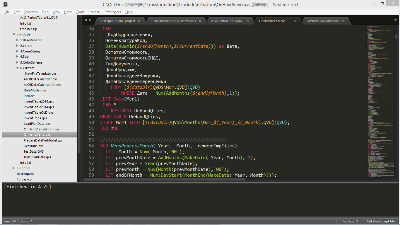 Sublime Text QLikView plugin